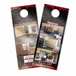 "Door Hanger (4.25"" x 11""): Printed on Premium Card Stock with Glossy Cover"