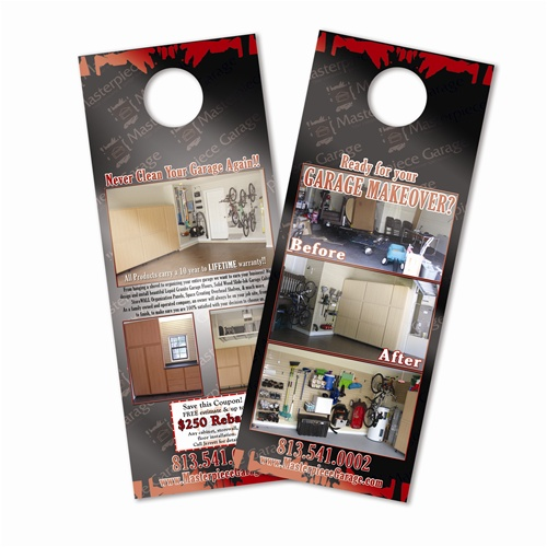 Door hanger x 11 printed on premium card stock for 10000 door hangers