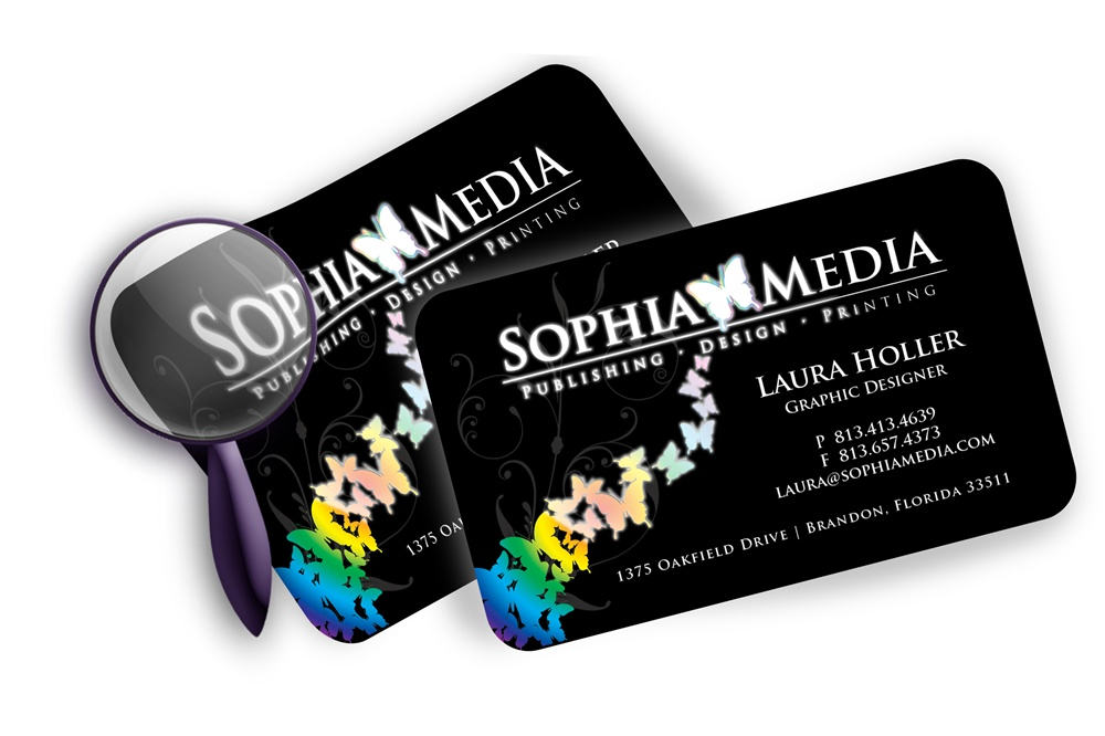 Foil business card with rounded corners reheart Images